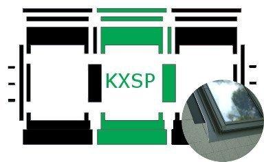 Kombi-Eindeckrahmen Okpol KXSP für Flache Eindeckmaterialen www.house-4u.eu