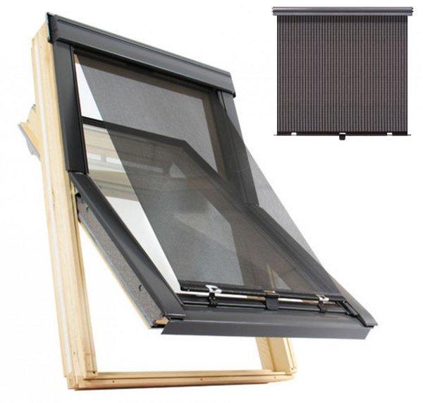 Anti-Hitze-Markise MUR / MUA Contrio Hitzeschutz-Markise für VELUX Dachfenster aussen Uni Schwarz 5060 _ house-4u.de