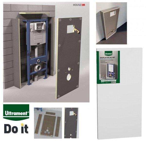 Bauplatten-WC-Set 4-tlg - Verkleidung der WC-Vorwandinstallation - Montageelement