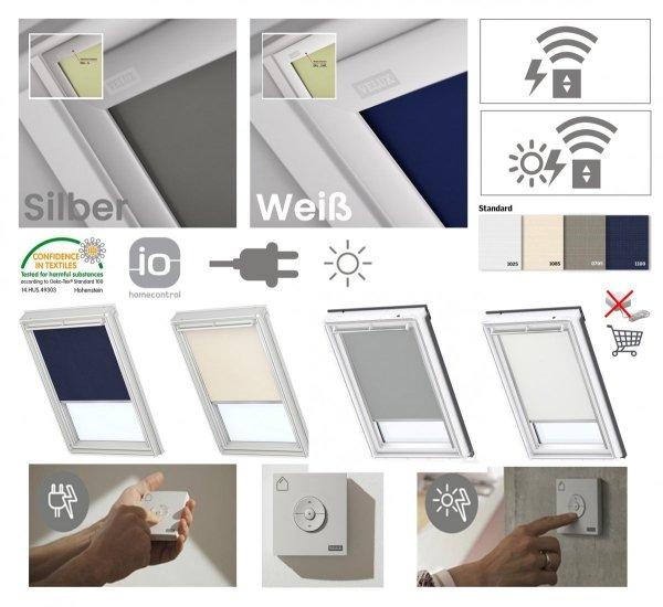 VELUX DSL Standard INTEGRA® Solar-Verdunkelungsrollo für VELUX Dachfenster, Pick&Click ®-Systems, dreilagigen Oeko-Tex®-Stoff _ house-4u.de