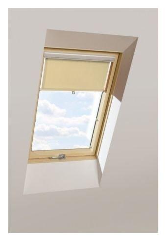 Sichtschutzrollo KRONmat AUB Beige für Velux, Fakro, RoofLITE, OptiLight, www.house-4u.eu
