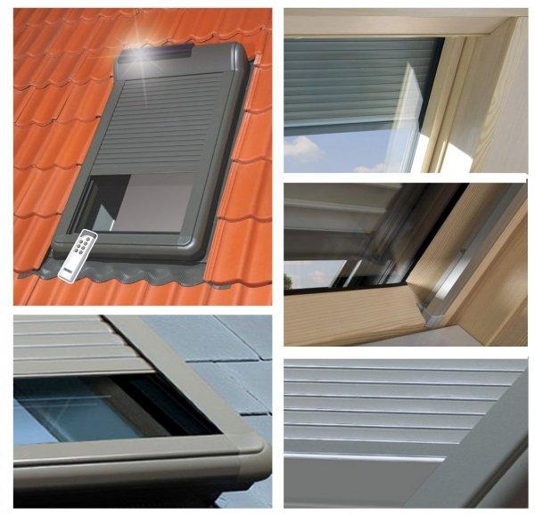 OUTLET:Außenrollladen Fakro ARZ Solar 102 78x118 Solar-Rollläden