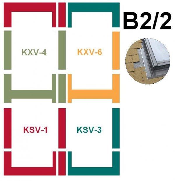 Kombi-Eindeckrahmensystem Fakro KSV B2/2 Für flache Eindeckmaterialien www.house-4u.eu