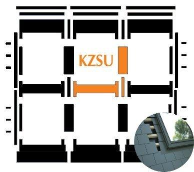 Kombi-Eindeckrahmen Okpol KZSL für flache Biberschwanzeindeckungen www.house-4u.eu