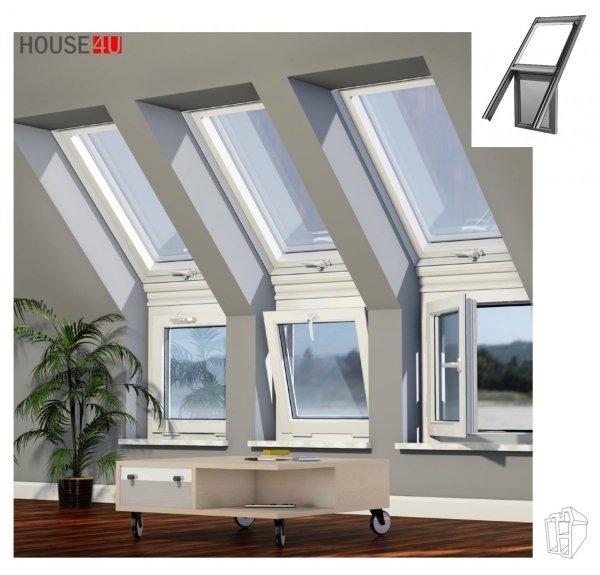 OKPOL Lichtlösung LICHTBAND WAND / FASSADE, Kniestockfenster KPVCN N22,OKPOL Lichtlösung LICHTBAND WAND / FASSADE, Kniestockfenster KPVCU N22, Senkrechtfenstern mit Kipp-Funktion, Unterelemente: Fenster, ENERGIE 3-fach-Verglasung Uw=0,83, Kunststoff, PVC