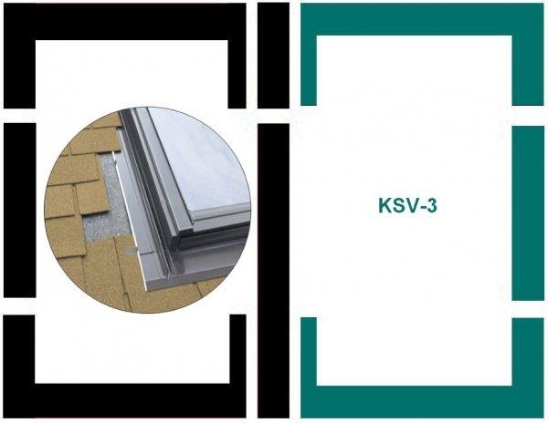 Eindeckrahmen Fakro KSV-3 Modul für die Kombination übereinander für flache Eindeckmaterialien www.house-4u.eu
