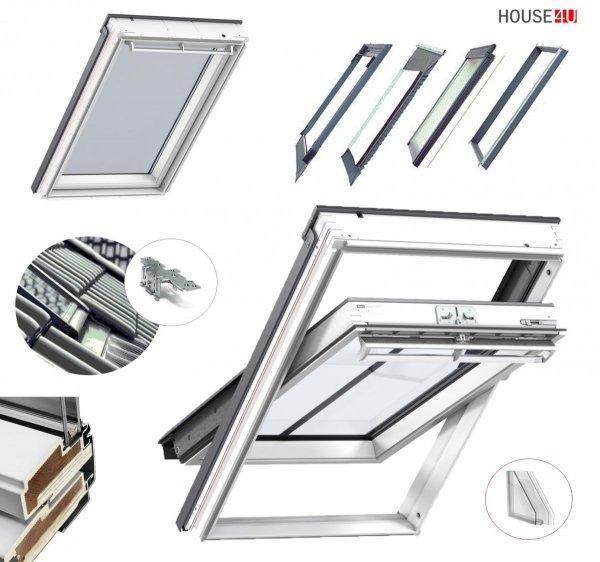 Dachfenster Kombi-Pakete THERMO Velux GPU SD0J4 Klapp-Schwingfenster-Set + Eindeckrahmen EDJ 2000 mit Thermische Isolationsset