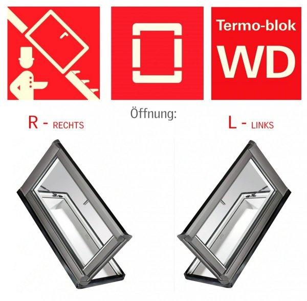 Ausstiegsfenster Roto WDA R35 K WD mit Wärmedämmblock für nutzräume www.house-4u.de