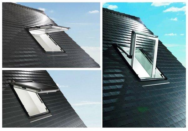 OUTLET: Roto Dachfenster WDF R88C K WD 94x118 Al Kunststoff Designo R8 Klapp-Schwingfenster aus Kunststoff mit Wärmedämmblock, 2-fach Comfort Uw=1,1 alternative für R85 Verbundsicherheitsglas innen VSG, 2-fach-Verglasung BlueLine Comfort nächste
