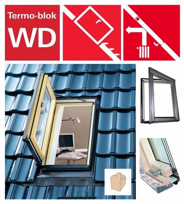 Ausstiegsfenster Roto WDA R35 H AL_ WD aus Holz für nutzräume mit Wärmedämmblock