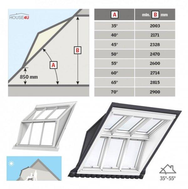 VELUX EBW 2032BK Kombi-Eindeckrahmen für gaubenähnliche Lösungen Aluminium VELUX Lichtlösung PANORAMA