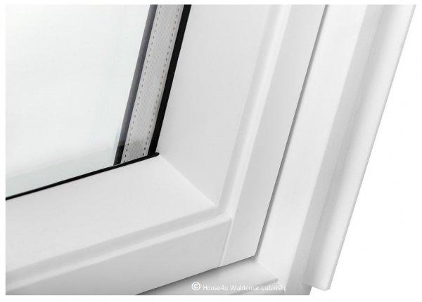 Dachfenster Schwingfenster KEYLITE BW 2-fach-Verglasung Thermal Uw=1,3 Dachfenster aus Holz: Weiss lackiert, Acryllack weiß farbe /  Boden-Griff