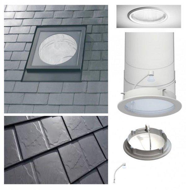 Tageslicht-Spot VELUX TLF 0K14 S00C01 2m flexiblem Rohr +ZTL für flache Eindeck.