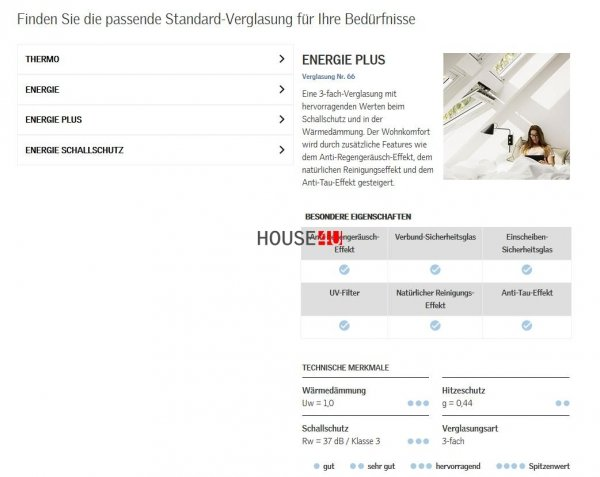 Dachfenster Velux GTU 0066 Wohn- und Ausstiegsfenster mit Klapp-Schwing-Funktion house-4u.de