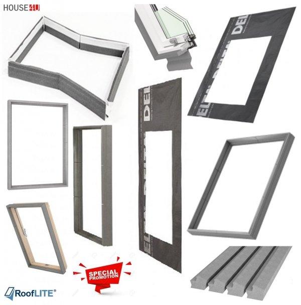 Werbeset RoofLITE TRIO PVC APY + TFX + MIA Gratis: RUC + IFC 3-fach Dachfenster Schwingfenster aus Kunstoff mit Eindeckrahmen, Anti-Hitze-Markise und GRATIS ISOLATION-SET IFC + RUC 24-05 / 30-06-2021