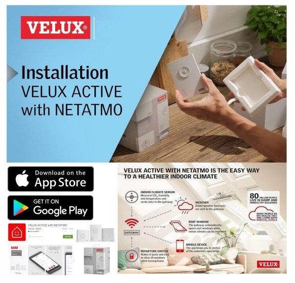 Solar-Dachfenster Velux GLL 306630 INTEGRA ENERGIE PLUS Schwingfesnter aus Holz 3-fach -Verglasung