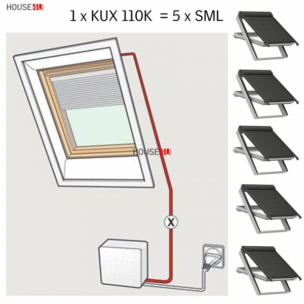 Velux KUX 110K INTEGRA®  Zubehör für VELUX INTEGRA System, Bedienungsmöglichkeiten _house-4u.de