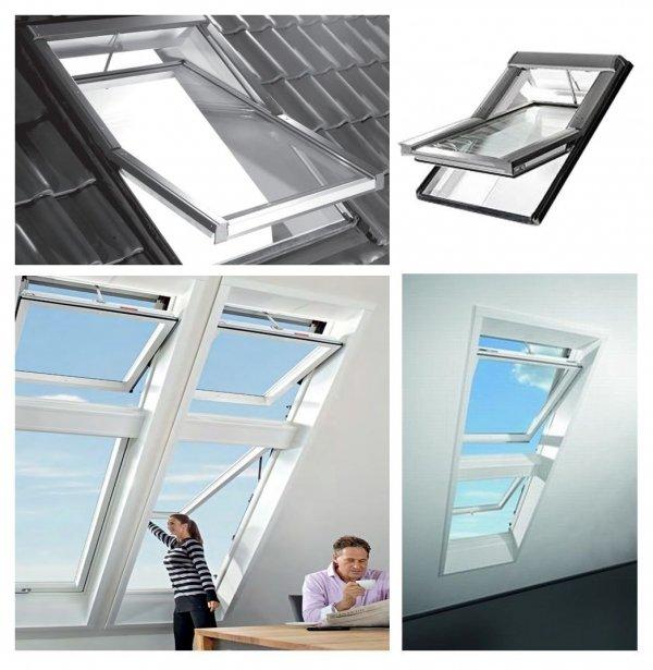 Dachfenster Elektrofenster Roto Designo WDT R48 K WD E_ RotoTronic Kunststoff Automatische Fenstern 2-fach Verglasung mit Verbundglas, incl. Regensensor, Verbundsicherheitsglas, ESG außen, VSG innen, Inneschiben laminiert, mit WD-Thermoblock _ house-4u.de