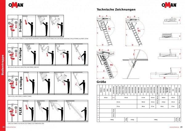 Bodentreppen OMAN FLEX TERMO U= 1,22 Scherentreppe www.house-4u.eu