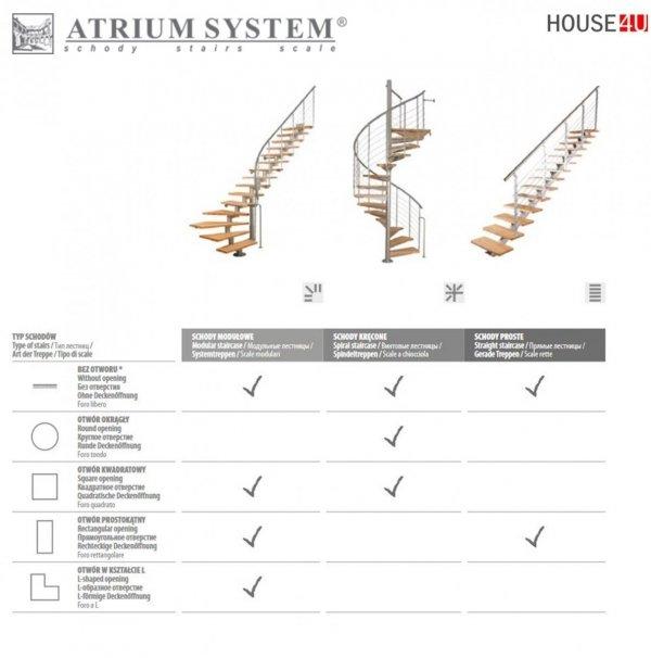 Mittelholmtreppen modular Systemtreppen ATRIUM DIXI  RAL 9006 Schwarz 11 Stufen Natürliche Erle  Modular Systemtreppe Mini-Treppen Geschosshöhe: 222 - 300 cm Anzahl Steigungen: 11 Stk.