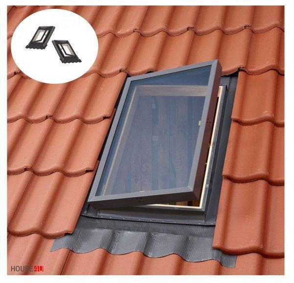 Ausstiegsfenster VELUX VELTA VLT 025 45X55, Dachluke links und rechts, Skylight für unbeheizte Räume, Dachausstiegsfenster,  Drehfenster, Skylight für unbeheizte Räume,  Kaltraumfenster, Eindeckrahmen integriert mit Ausgangsfenster _ house-4u.de