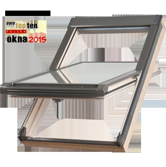 Dachfenster Okpol ISO I6 Schwingfenster Energiesparende Holz klar lackiert www.house-4u.eu