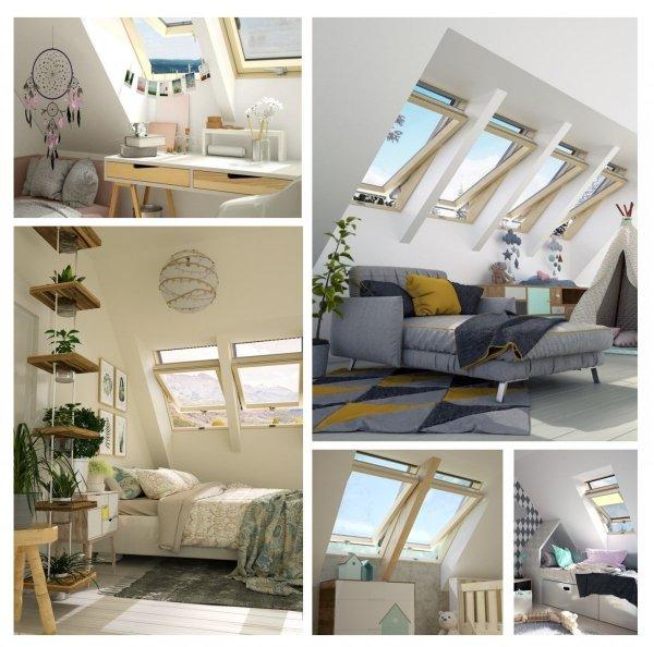 Dachfenster Okpol MSO E2 Schwingfenster Holz klar lackiert www.house-4u.eu