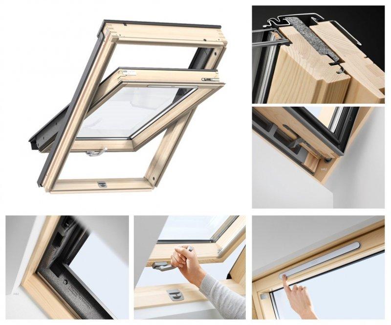 Velux dachfenster gll 1061 b 3 fach verglasung uw 1 1 schwingfenster boden griff - Dachfenster 3 fach verglasung ...