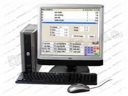 Zestaw: komputer, program, drukarka fiskalna, czytnik, monitor