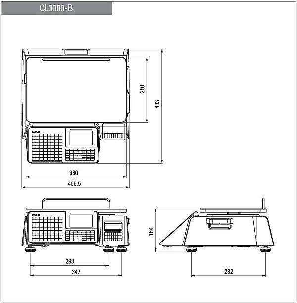 Waga etykietująca CAS CL3000 15B