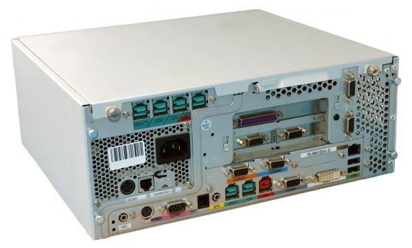 """Zestaw POS: komputer kasowy Wincor Nixdorf BEETLE M-II plus + monitor dotykowy IBM 4820-51G 15"""" (używane)"""