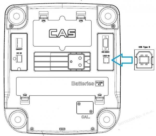 Waga CAS SW-2 CR USB 30KG