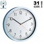 Zegar ścienny TFA 60.3517 wskazówkowy sterowany radiowo płynąca wskazówka 31 cm