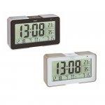 Budzik elektroniczny TFA 60.2540 MELODY zegar biurkowy sterowany radiowo DCF z termohigrometrem 3 czasy budzenia
