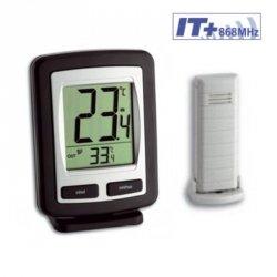 TFA 30.3040 ZOOM termometr bezprzewodowy z czujnikiem zewnętrznym błyskawiczna transmisja