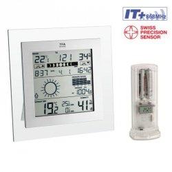 Stacja pogody bezprzewodowa TFA 35.1121 SQUARE PLUS z czujnikiem zewnętrznym błyskawiczna transmisja