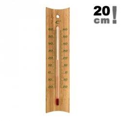 Termometr pokojowy TFA 12.1049 cieczowy domowy ścienny bambusowy 200 mm