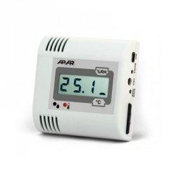 APAR AR232 rejestrator temperatury przemysłowy termometr wewnętrzny naścienny LCD