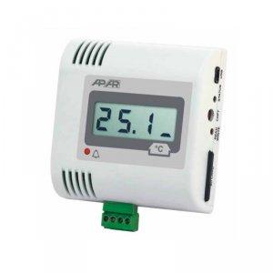 APAR AR234 rejestrator temperatury dwukanałowy przemysłowy termometr wewnętrzny naścienny LCD z wejściem uniwersalnym