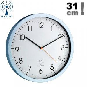 TFA 60.3517 zegar ścienny wskazówkowy sterowany radiowo płynąca wskazówka 31 cm