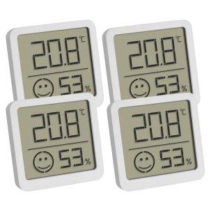 TFA 30.5053 termohigrometr domowy elektroniczny wewnętrzny 4 sztuki