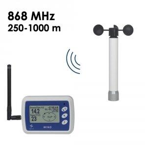 Rejestrator prędkości wiatru Navis WL12/WS anemometr bezprzewodowy z termometrem