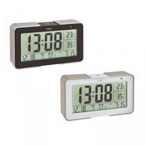 TFA 60.2540 MELODY budzik elektroniczny zegar biurkowy sterowany radiowo DCF z termohigrometrem 3 czasy budzenia