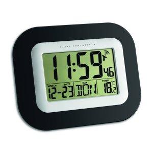 TFA 60.4503 zegar elektroniczny ścienny biurowy sterowany radiowo z termometrem
