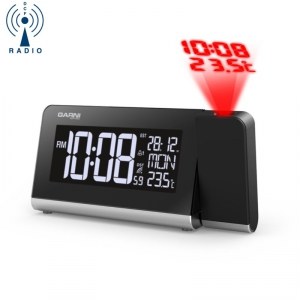 Zegar biurkowy Garni 165 ARCUS budzik z projektorem