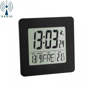 TFA 60.2525 budzik biurkowy zegar elektroniczny sterowany radiowo z termometrem