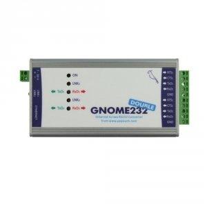 Papouch GNOME232_Double konwerter przemysłowy sygnału RS232 do Ethernet podwójny izolowany galwanicznie