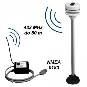 LCJ Capteurs CV7-SF wiatromierz ultradźwiękowy dwuosiowy mini-anemometr bezprzewodowy USB NMEA 0183