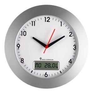 TFA 98.1092 zegar ścienny wskazówkowy sterowany radiowo z kalendarzem 30 cm