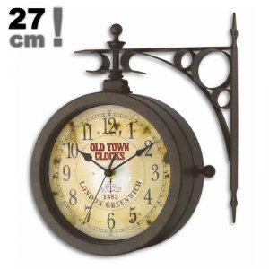 Zegar ścienny TFA 60.3011 NOSTALGIA wskazówkowy z termometrem zewnętrzny 27 cm